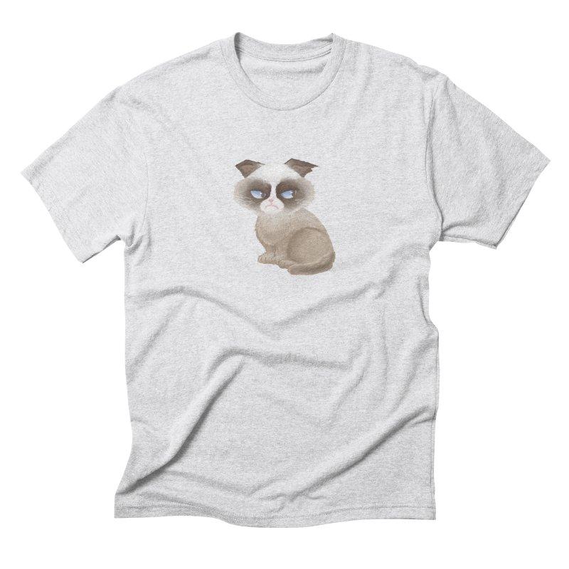 Grumpy cat Men's Triblend T-Shirt by Igzell's Artist Shop