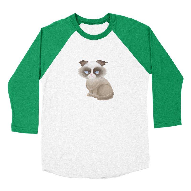 Grumpy cat Men's Baseball Triblend Longsleeve T-Shirt by Igzell's Artist Shop