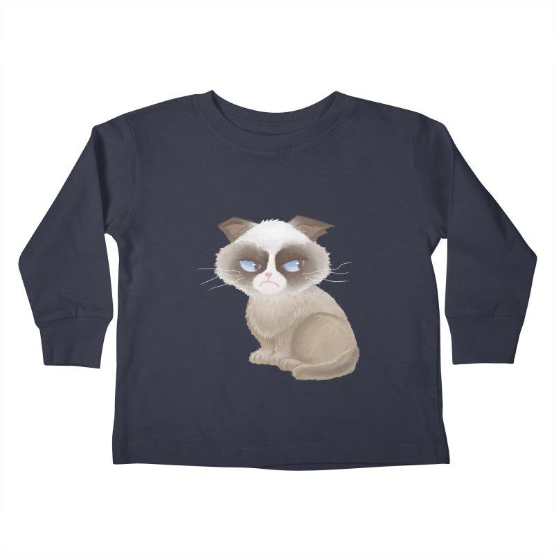 Grumpy cat Kids Toddler Longsleeve T-Shirt by Igzell's Artist Shop