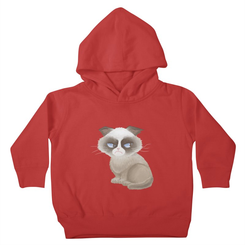 Grumpy cat Kids Toddler Pullover Hoody by Igzell's Artist Shop