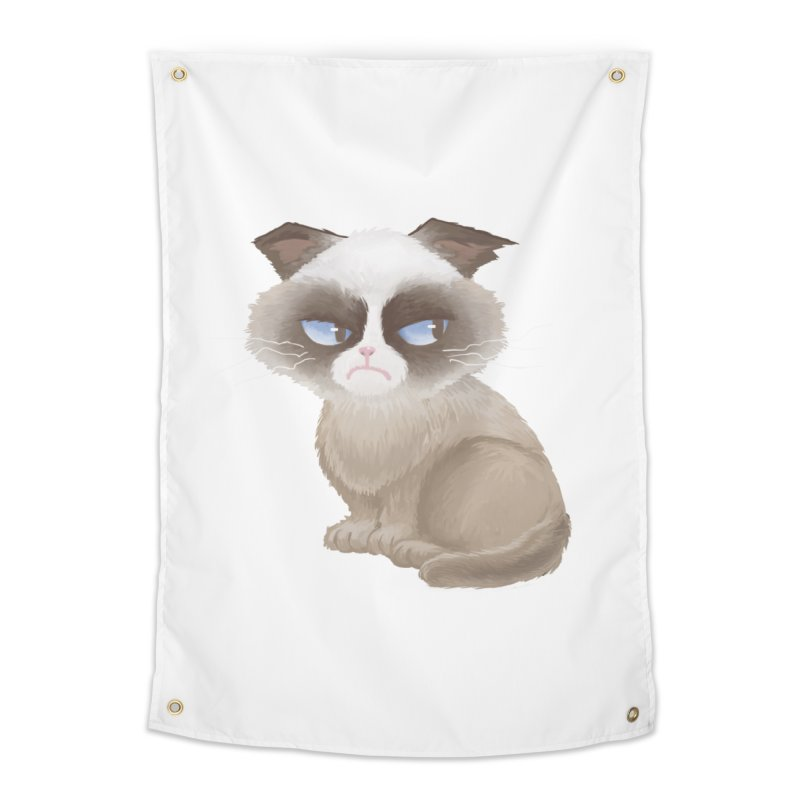 Grumpy cat Home Tapestry by Igzell's Artist Shop