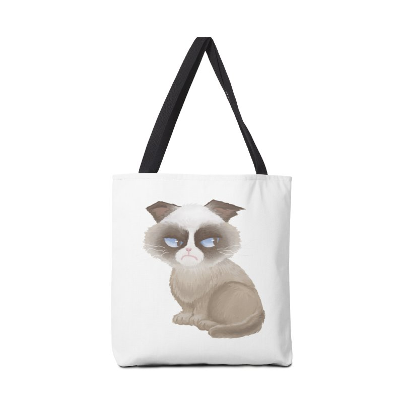 Grumpy cat Accessories Tote Bag Bag by Igzell's Artist Shop