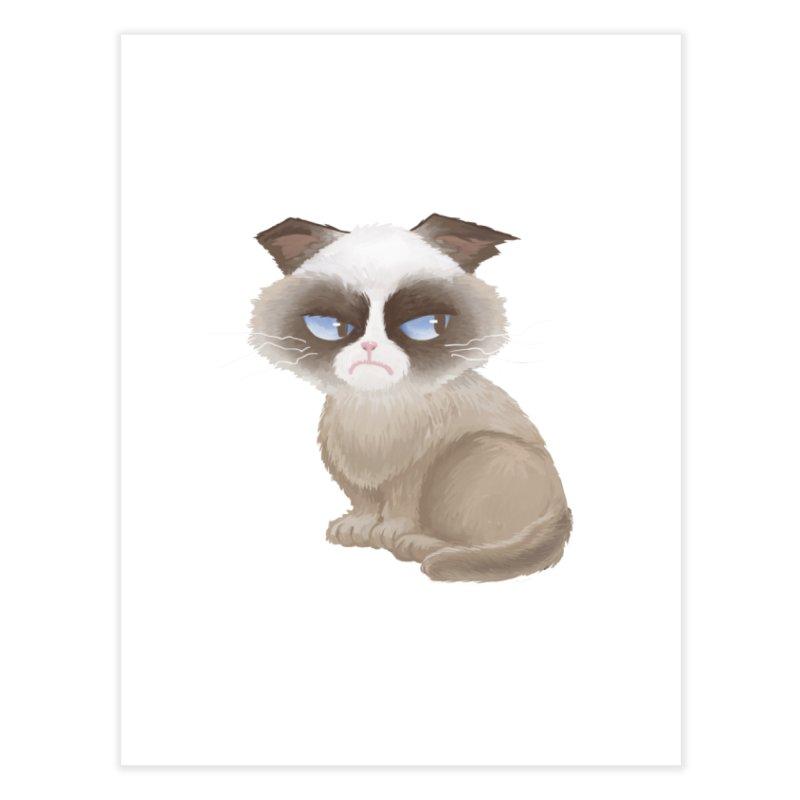Grumpy cat Home Fine Art Print by Igzell's Artist Shop