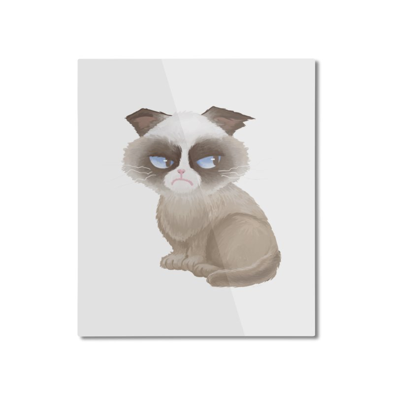 Grumpy cat Home Mounted Aluminum Print by Igzell's Artist Shop