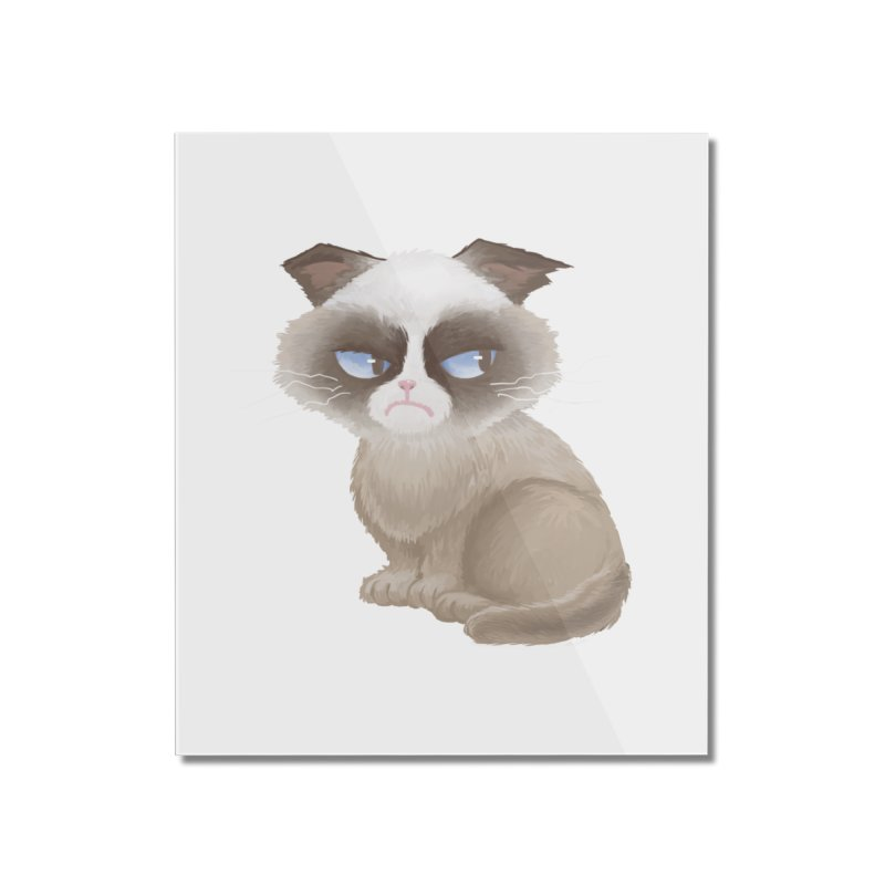 Grumpy cat Home Mounted Acrylic Print by Igzell's Artist Shop