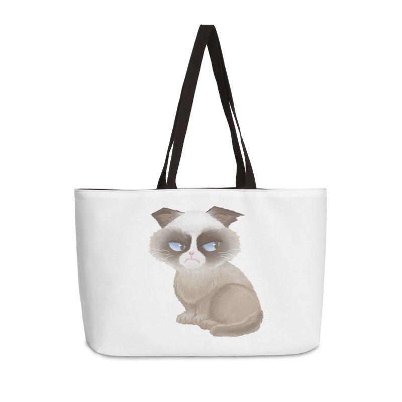 Grumpy cat Accessories Weekender Bag Bag by Igzell's Artist Shop