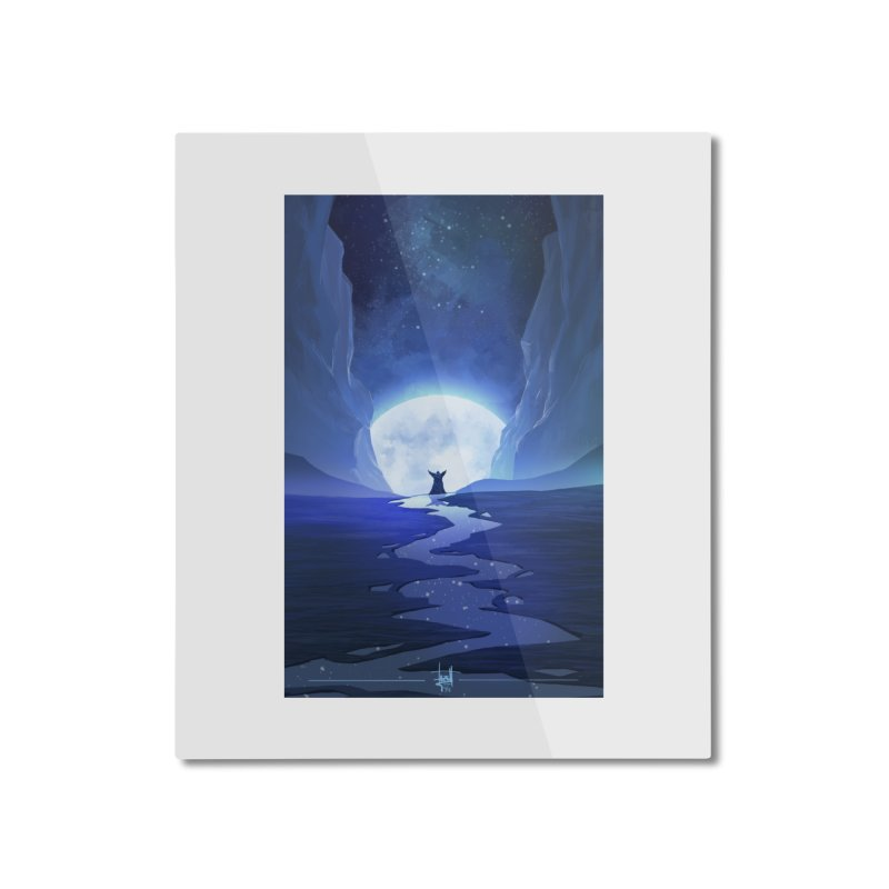 Praying to the old gods. Home Mounted Aluminum Print by Igzell's Artist Shop