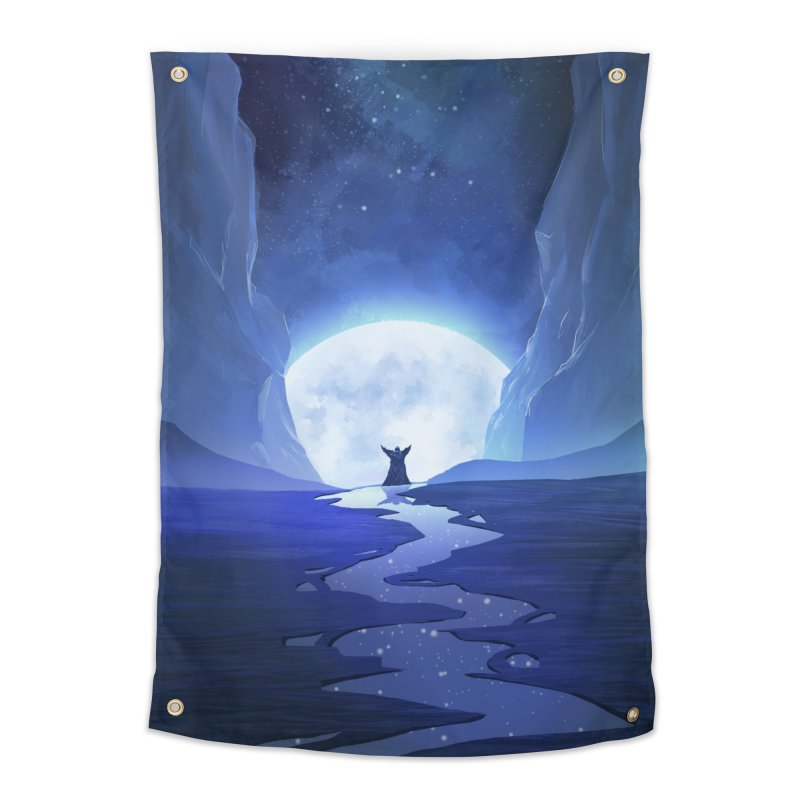 Praying to the old gods. Home Tapestry by Igzell's Artist Shop