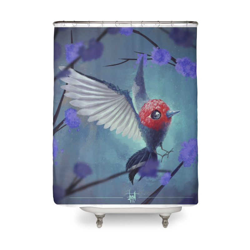 Fletchling Home Shower Curtain by Igzell's Artist Shop