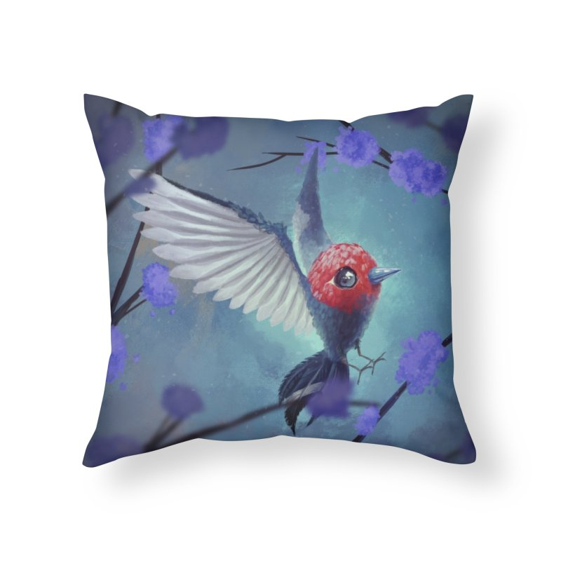 Fletchling Home Throw Pillow by Igzell's Artist Shop