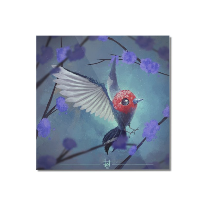 Fletchling Home Mounted Acrylic Print by Igzell's Artist Shop