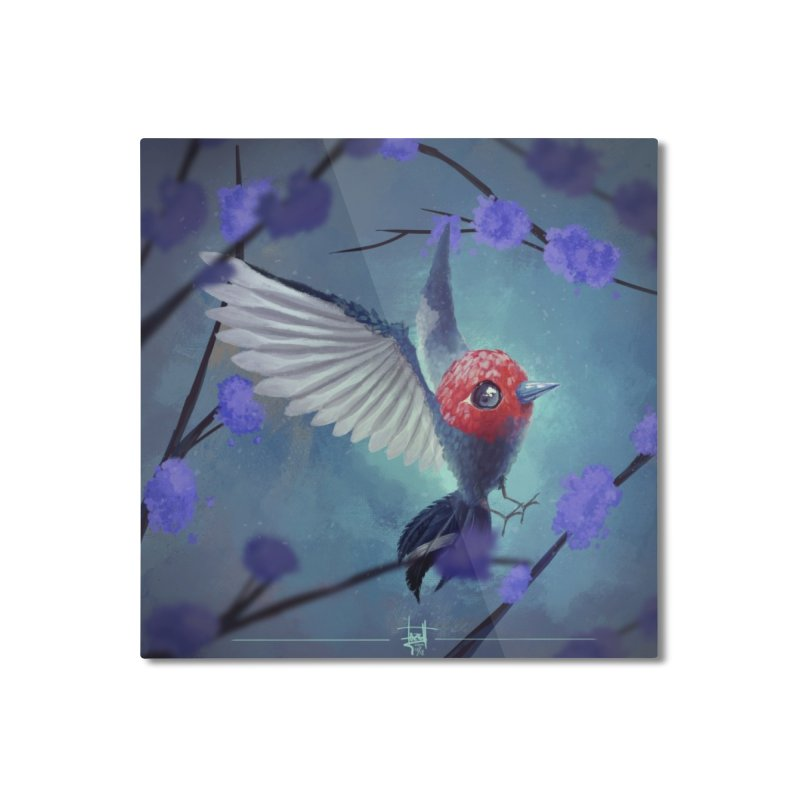 Fletchling Home Mounted Aluminum Print by Igzell's Artist Shop