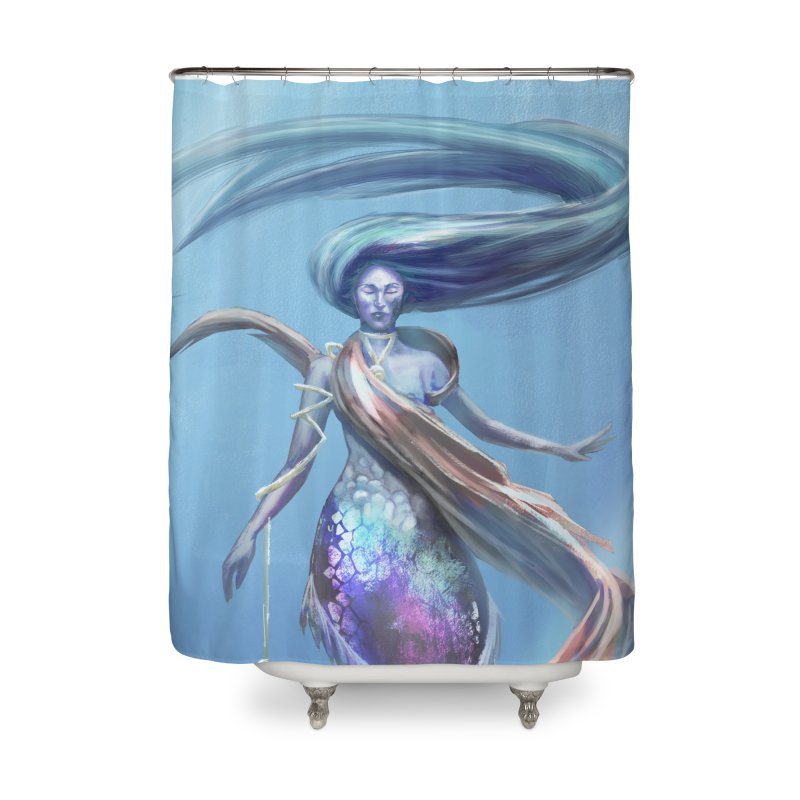 Mermay Home Shower Curtain by Igzell's Artist Shop