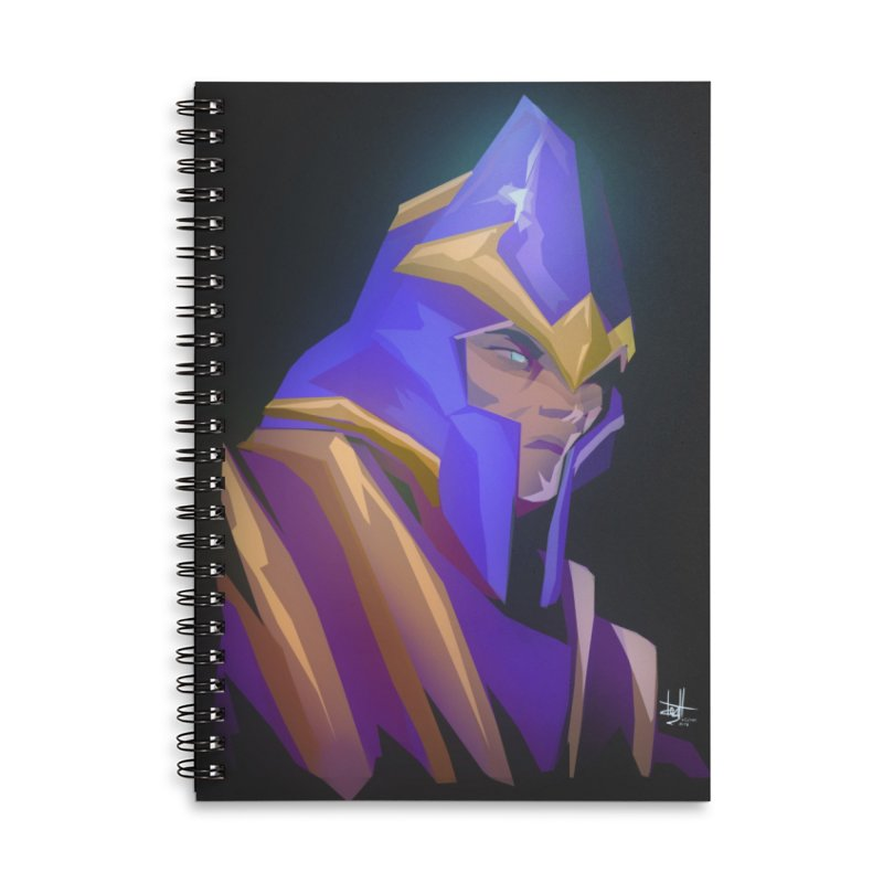 Silencer Accessories Lined Spiral Notebook by Igzell's Artist Shop