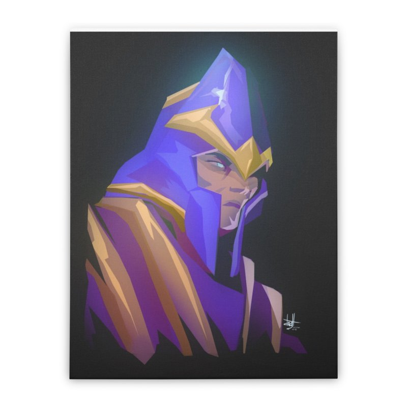 Silencer Home Stretched Canvas by Igzell's Artist Shop