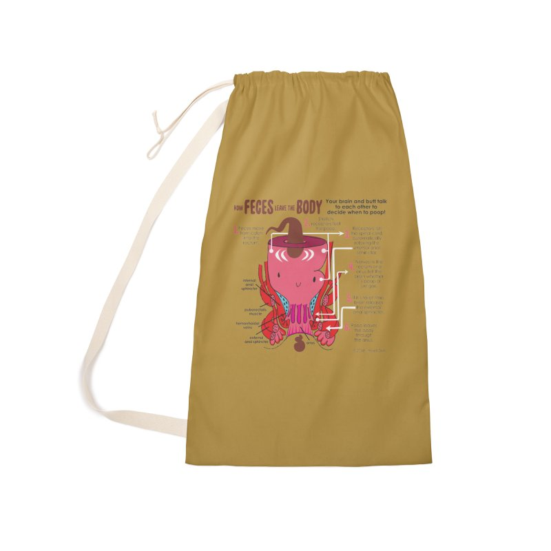 How Feces Leave the Body Accessories Laundry Bag Bag by I Heart Guts