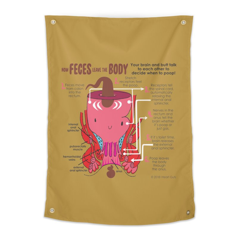How Feces Leave the Body Home Tapestry by I Heart Guts