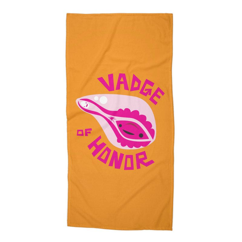 Vadge of Honor Accessories Beach Towel by I Heart Guts