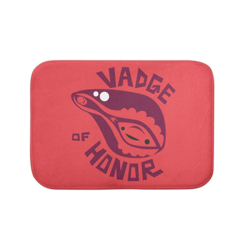 Vadge of Honor Home Bath Mat by I Heart Guts