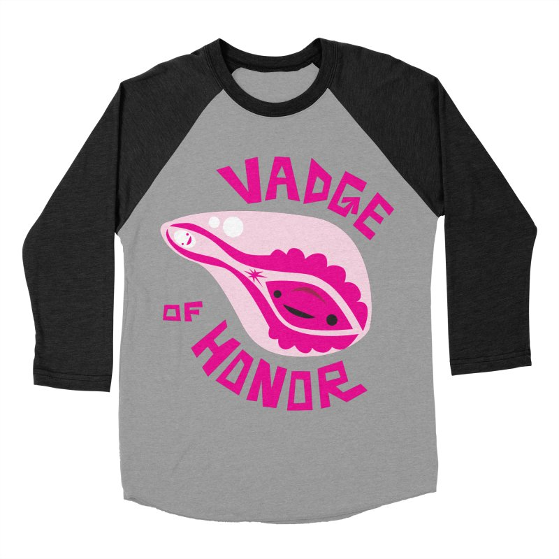 Vadge of Honor Women's Baseball Triblend T-Shirt by I Heart Guts