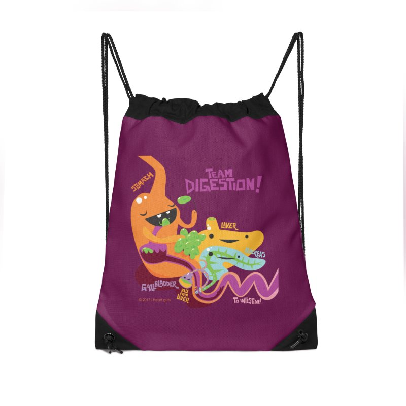 Team Digestion! Accessories Drawstring Bag Bag by I Heart Guts