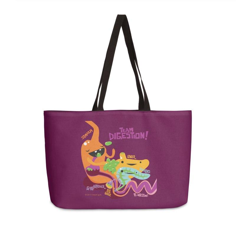 Team Digestion! Accessories Weekender Bag Bag by I Heart Guts