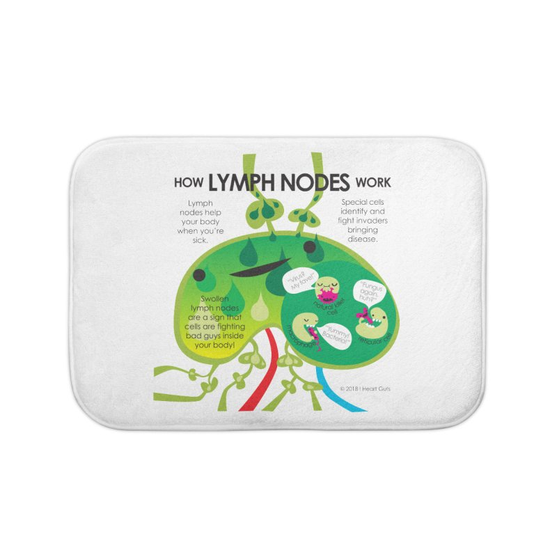 How Lymph Nodes Work Home Bath Mat by I Heart Guts