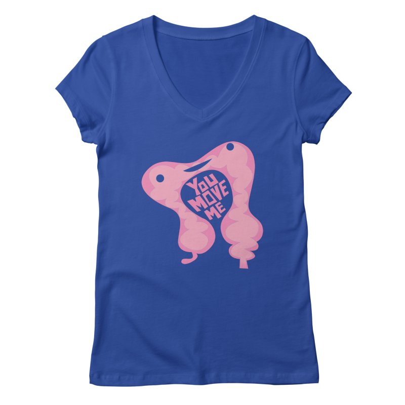 Colon - You Move Me Women's V-Neck by I Heart Guts
