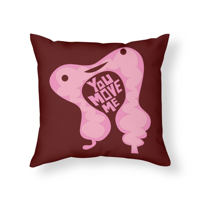 Colon - You Move Me Home Throw Pillow by I Heart Guts