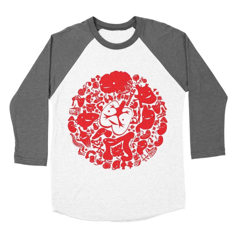 Circle of Guts Women's Baseball Triblend T-Shirt by I Heart Guts