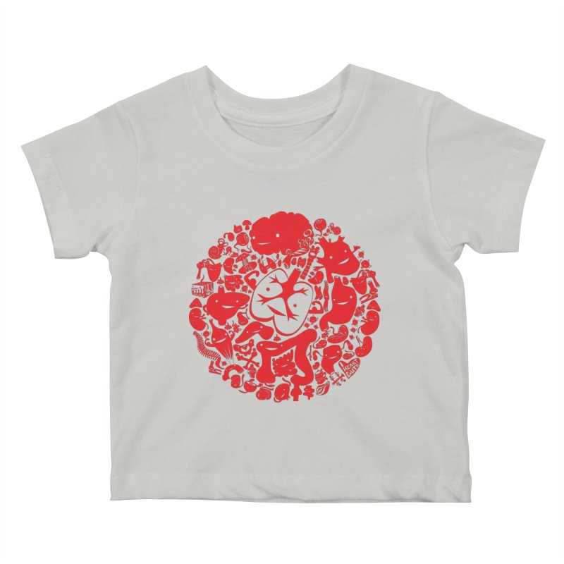 Circle of Guts Kids Baby T-Shirt by I Heart Guts