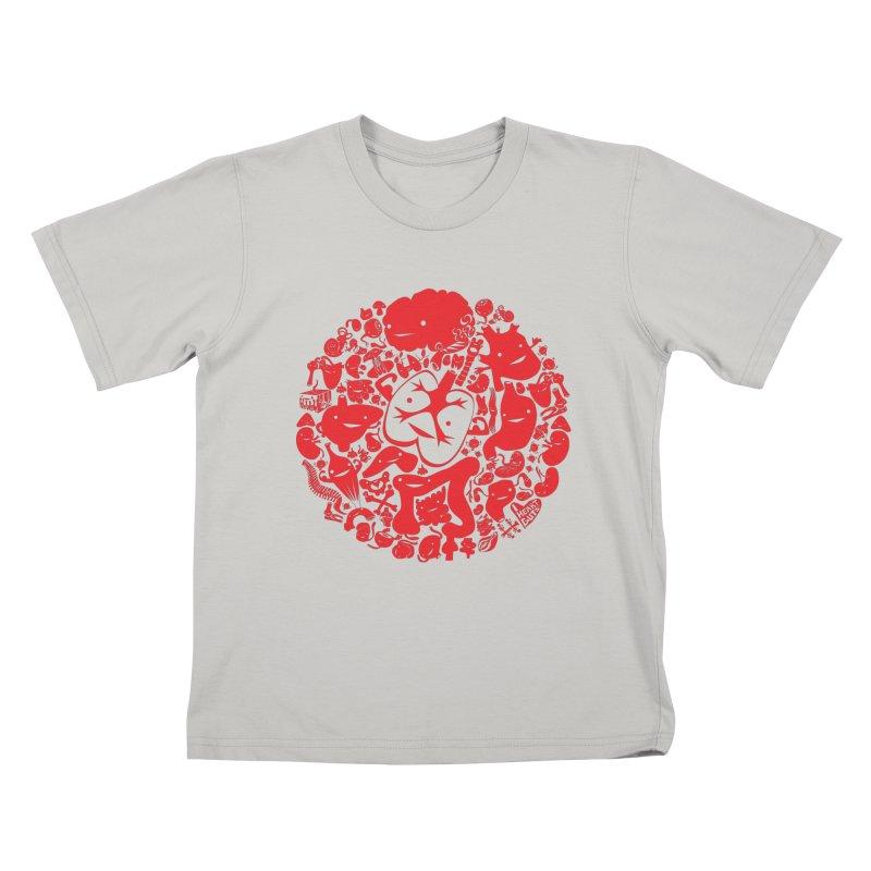 Circle of Guts Kids T-shirt by I Heart Guts