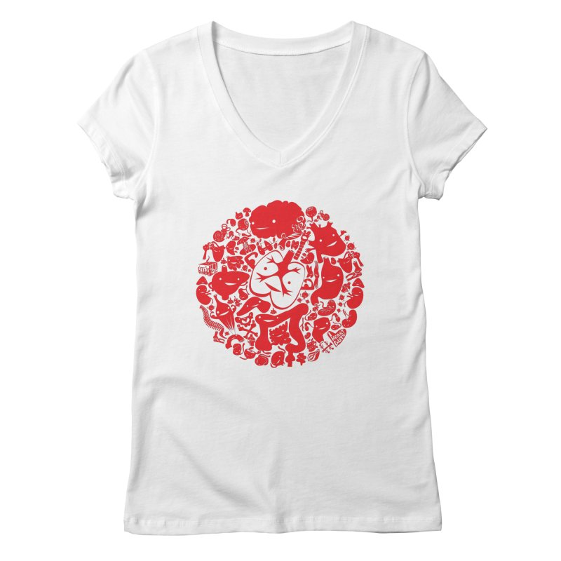 Circle of Guts Women's V-Neck by I Heart Guts