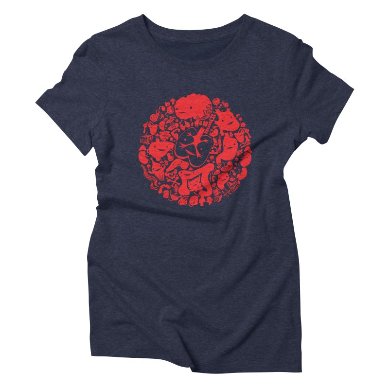 Circle of Guts Women's Triblend T-shirt by I Heart Guts