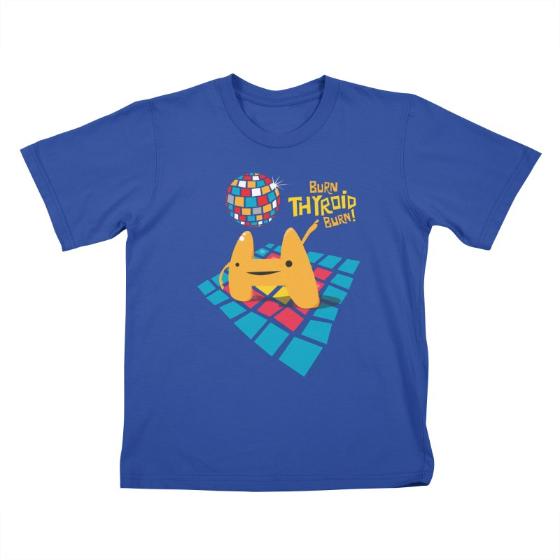 Burn Thyroid Burn Kids T-shirt by I Heart Guts