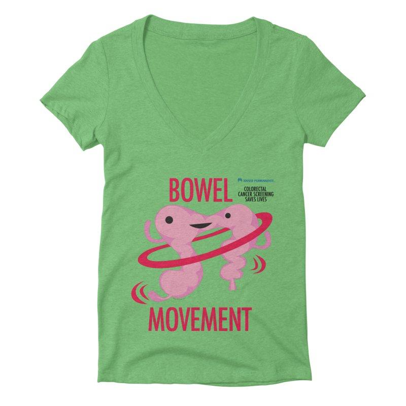Bowel Movement - Kaiser Permanente Colorectal Cancer Screening Month Women's Deep V-Neck V-Neck by I Heart Guts