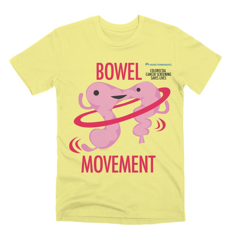 Bowel Movement - Kaiser Permanente Colorectal Cancer Screening Month Men's Premium T-Shirt by I Heart Guts