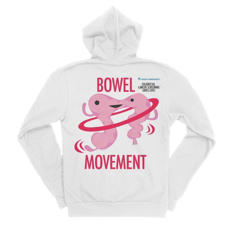 Bowel Movement - Kaiser Permanente Colorectal Cancer Screening Month Women's Sponge Fleece Zip-Up Hoody by I Heart Guts