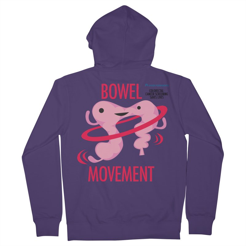 Bowel Movement - Kaiser Permanente Colorectal Cancer Screening Month Women's French Terry Zip-Up Hoody by I Heart Guts