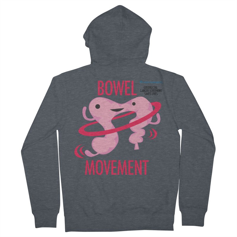 Bowel Movement - Kaiser Permanente Colorectal Cancer Screening Month Men's French Terry Zip-Up Hoody by I Heart Guts