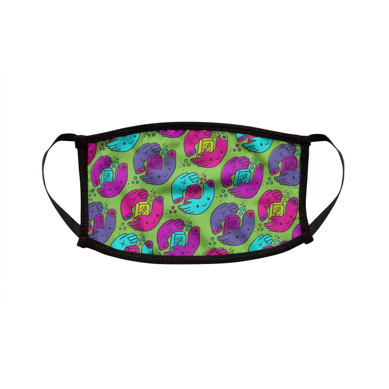 Wash Your Hands Print Accessories Face Mask by I Heart Guts