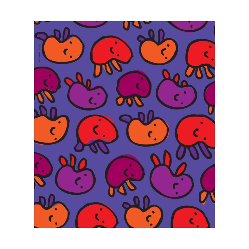 Cute Kidney Pattern Print Accessories Face Mask by I Heart Guts