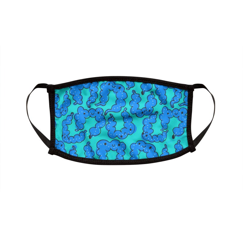 Cute Colon Pattern Print - Blue Accessories Face Mask by I Heart Guts