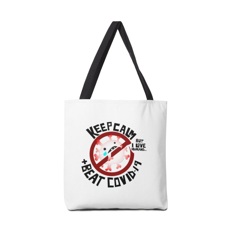 Keep Calm and Beat COVID-19 Accessories Bag by I Heart Guts