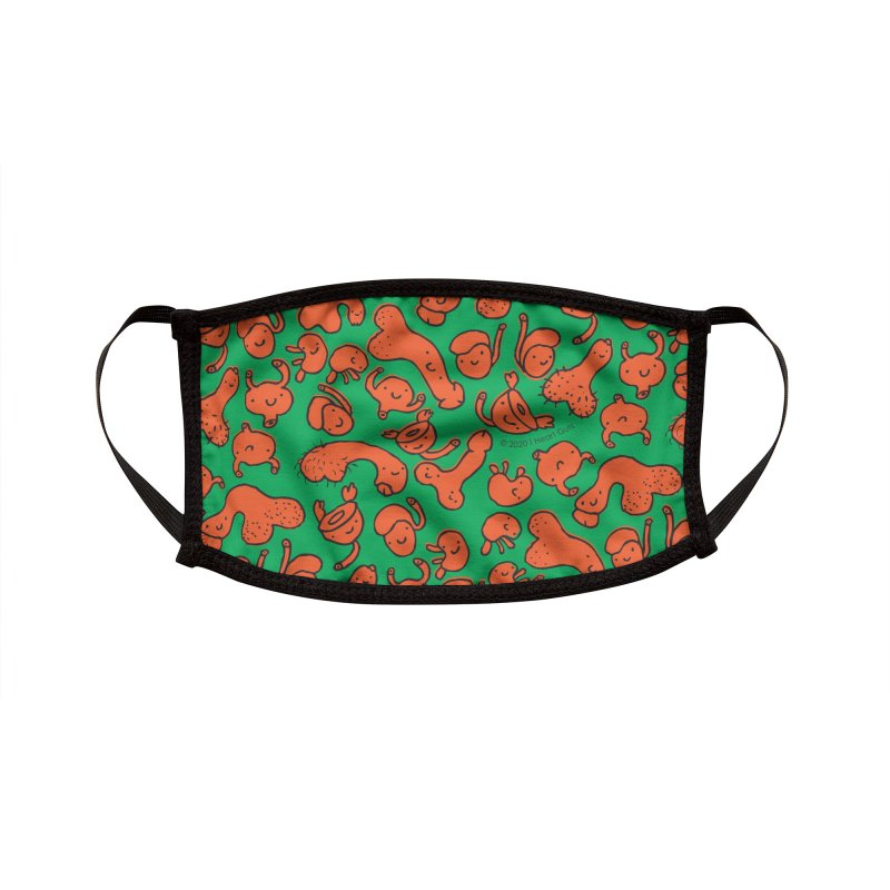 Urology Friends Print - Carrots and Peas - Orange and Green Accessories Face Mask by I Heart Guts
