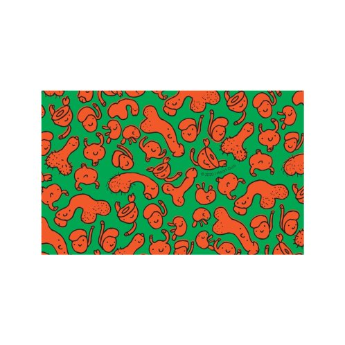 Design for Urology Friends Print - Carrots and Peas - Orange and Green