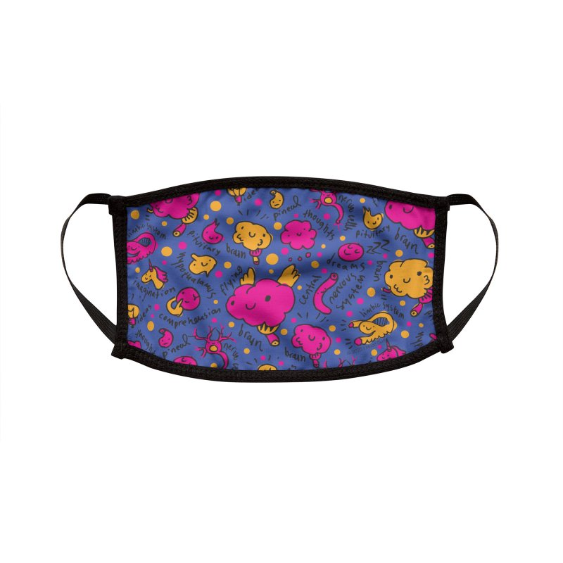 Brainy Face Mask Accessories Face Mask by I Heart Guts