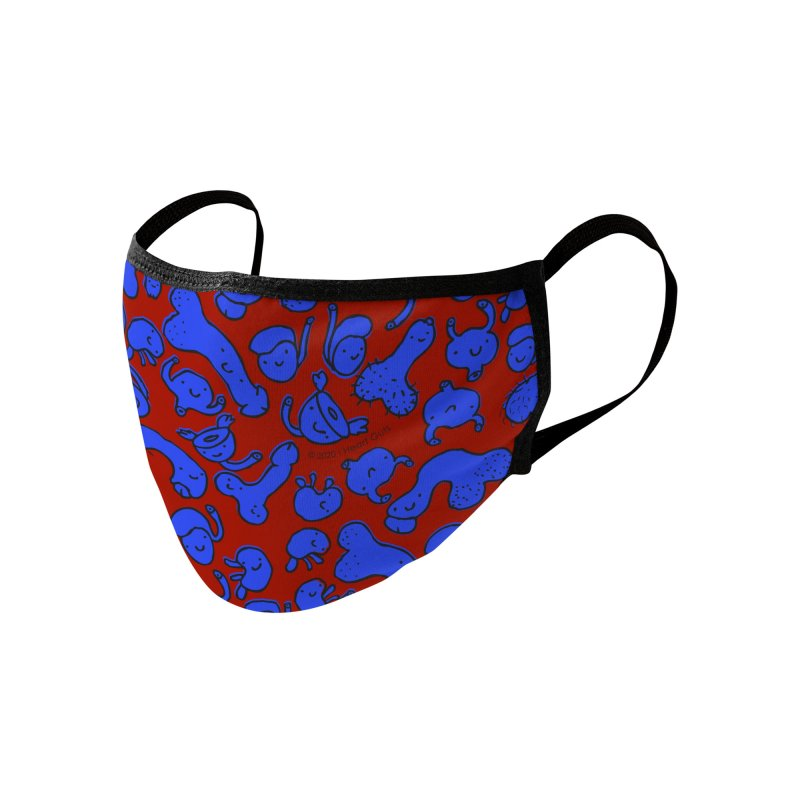 Urology and Friends Face Mask - Indigo and Blood Red Accessories Face Mask by I Heart Guts
