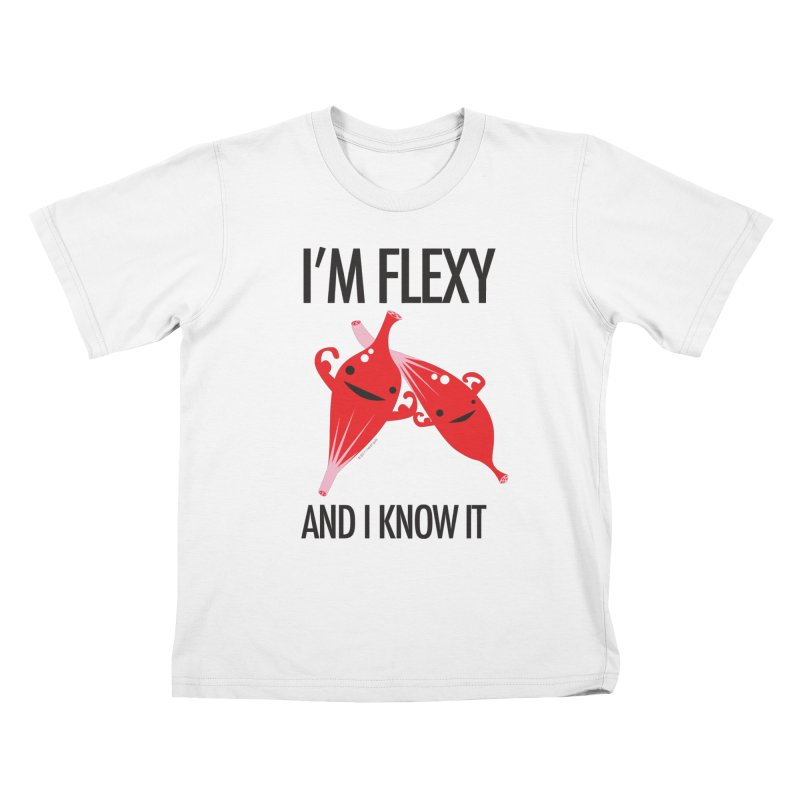 Muscle - I'm Flexy and I Know It Kids T-shirt by I Heart Guts