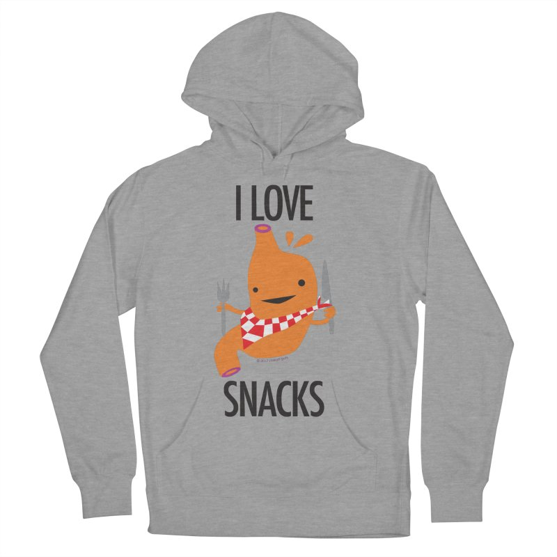 Stomach - I Love Snacks Men's Pullover Hoody by I Heart Guts